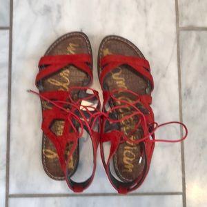 Sam Edelman red sandals